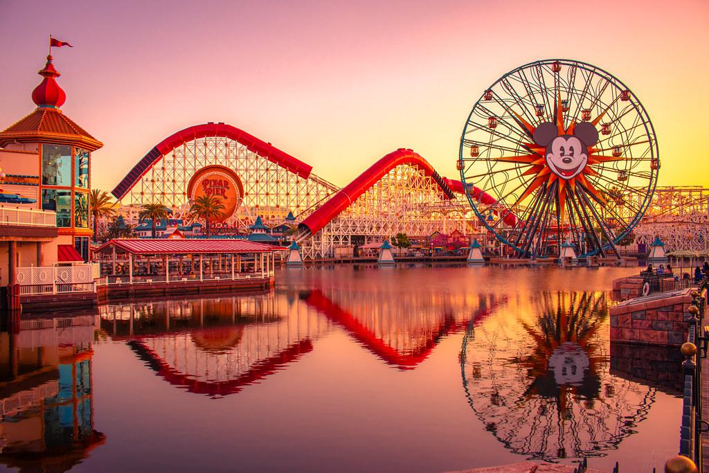 Pixar Pier Sunset 4_17_2021