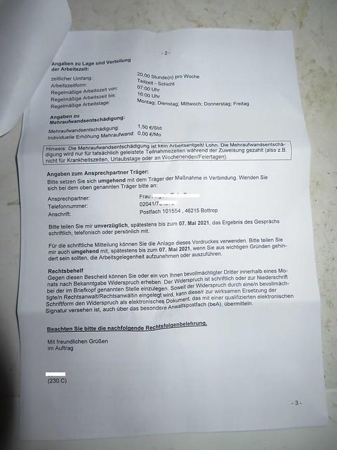 IMG_1624 Abrbeitsamt Arbeitsgelegenheit mit 9 Stunden und 1 Jahr dauer Stadt Bottop  (01.05.2021)