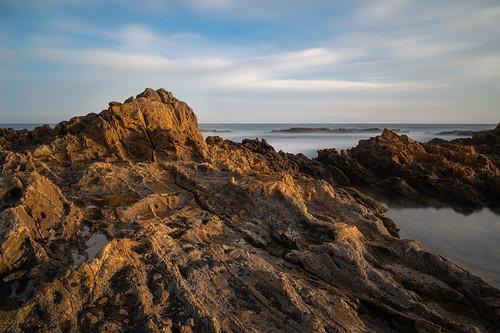 landscape seascape beach whitepoint losangeles longbeach sunset goldenhour ngc nd1000 longexposure nikon pacificocean rockyshore