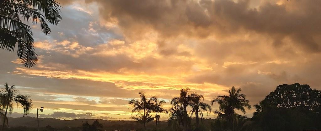 Sunset splendour over Elanora, Queensland.