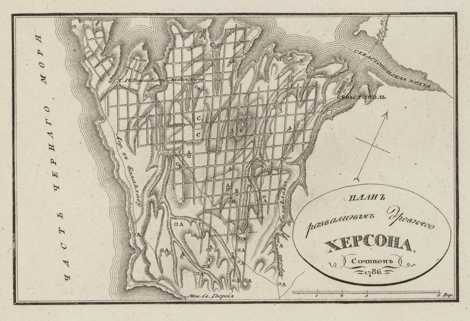 1786. План развалинам древнего Херсонеса