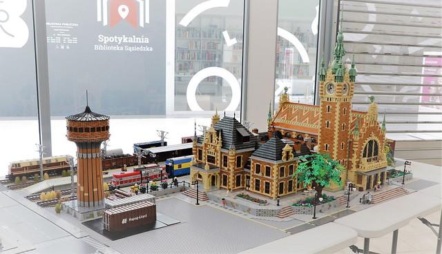 Train station diorama