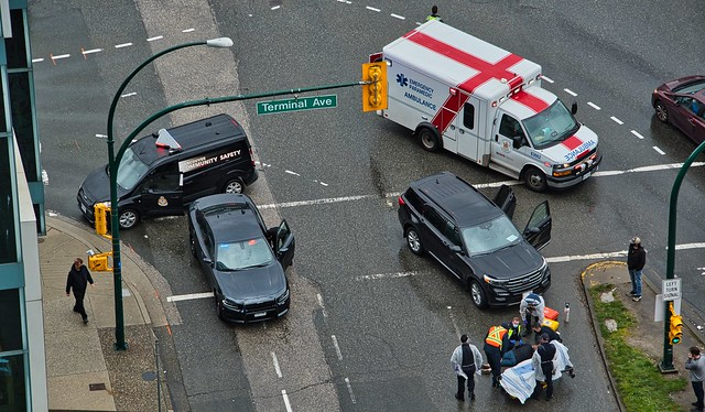 2021 - Vancouver - Vehicle & Pedestrian Collide