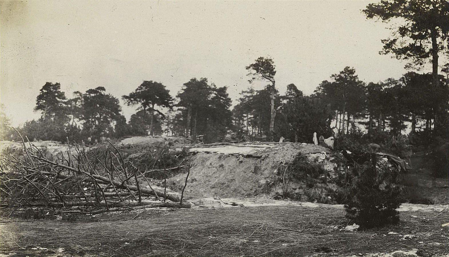 107. Засека перед окопом Самурского полка