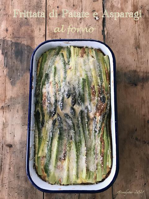 frittata di asparagi e patate al forno