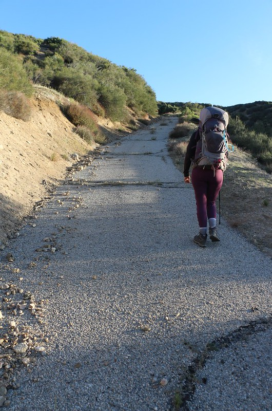 We saw a potential shortcut on the map - an old road that chopped a mile off our day - but it was very steep!