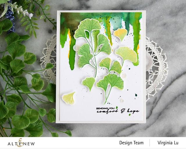 Altenew-Sweet Ginkgo Stamp Set- Sweet Ginkgo Die Set-003