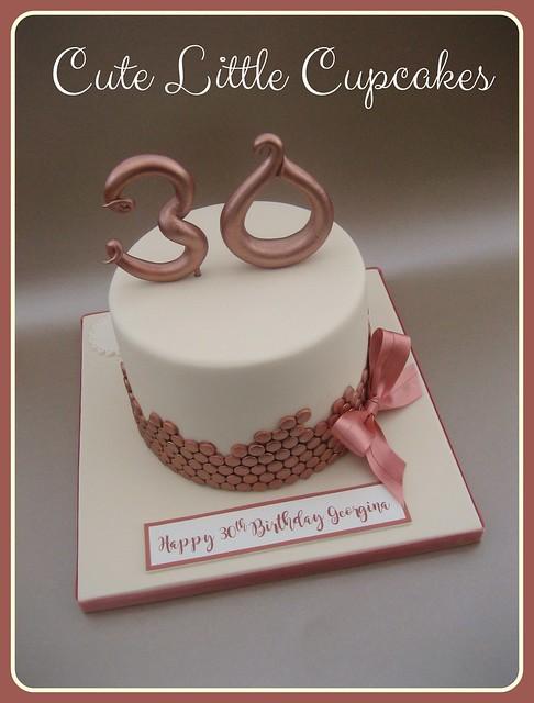 Sequin 30th Birthday Cake