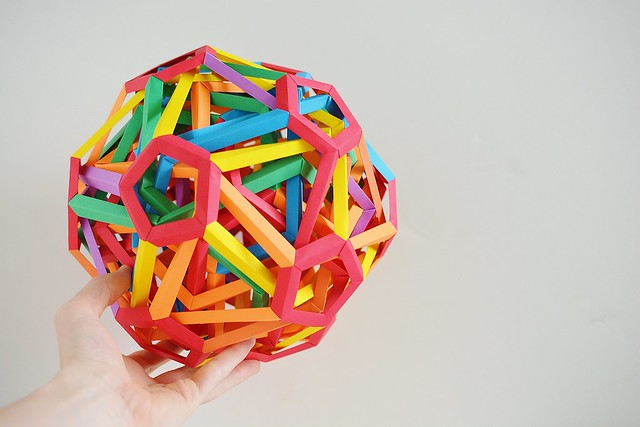 """""""Kilauea"""" Woven Wrinkled Dodecahedrally Truncated Deltoidal Hexecontahedron (Byriah Loper)"""