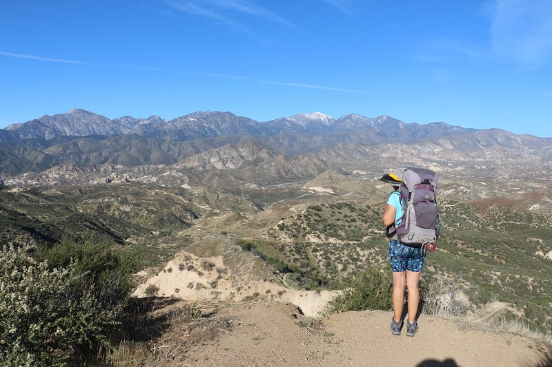The PCT goes down and down and down along the ridgeline as it makes its way toward Interstate 15