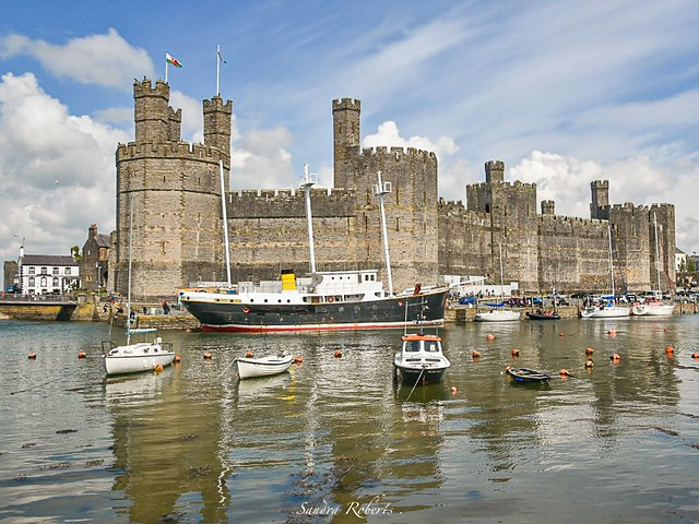 Another of Caernarfon Castle North Wales.