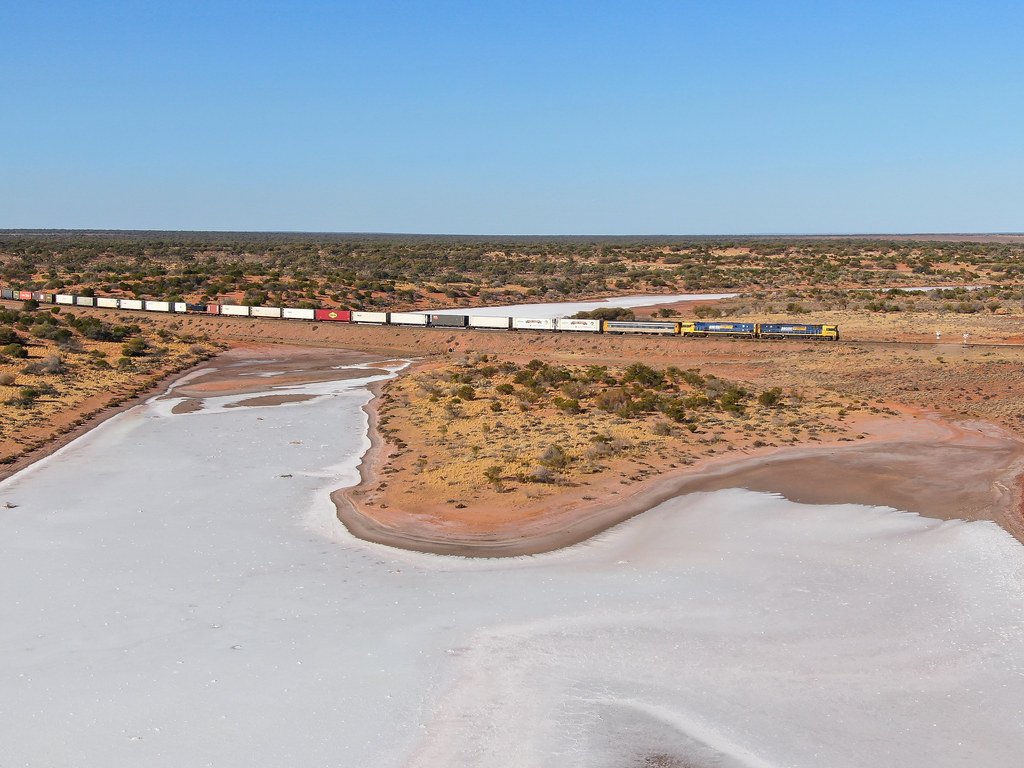 Island lagoon salt lake by David Arnold