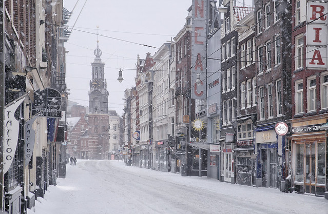 Amsterdam hit by Covid-19 and snowstorm Darcy