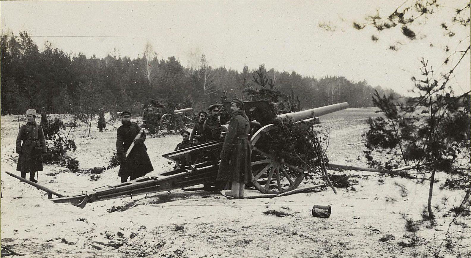 99, Тяжёлая артиллерия во время боя у деревни Африка