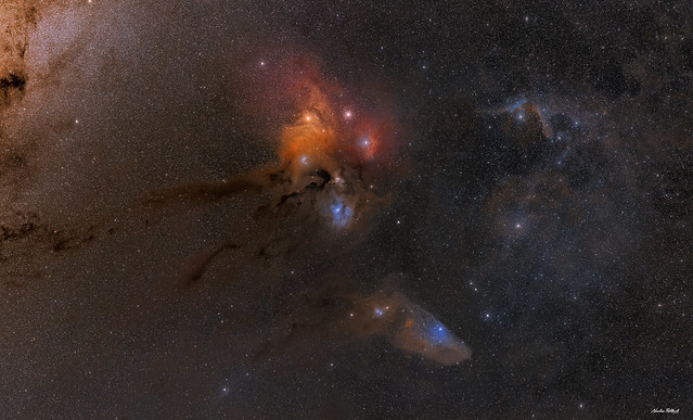 Wide view of Rho Ophiuchi - 3 Panel Mosaic
