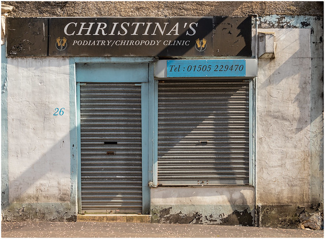Abandoned Shop - Chiropody, Beith