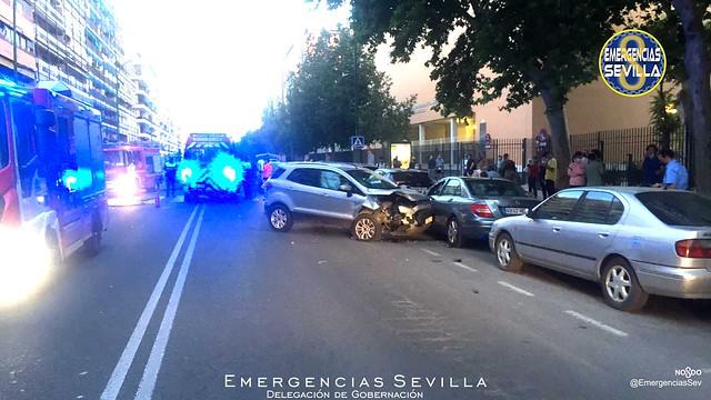 Accidente en Reina Mercedes