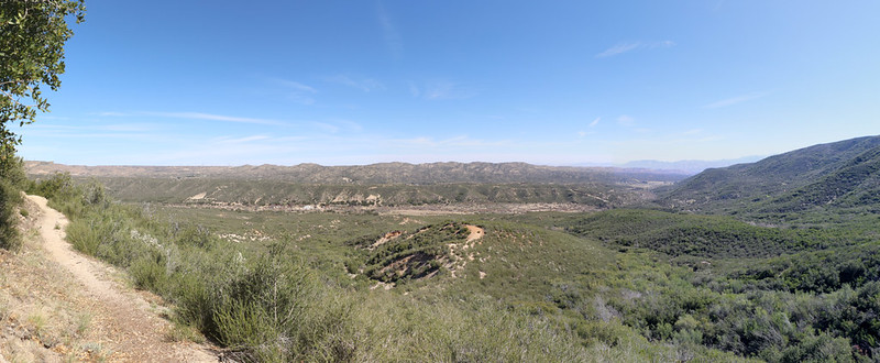 Panorama view over Horsethief Canyon