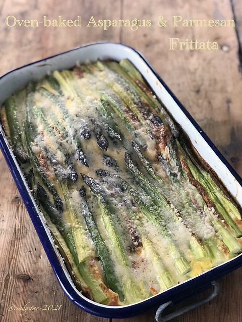 oven baked asparagus&parmesan frittata