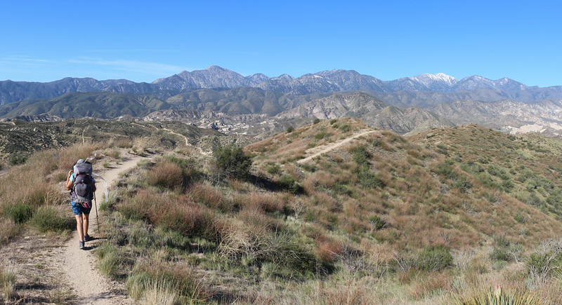 The trail eventually heads down into Crowder Canyon, and the views were great the entire way. So was the breeze