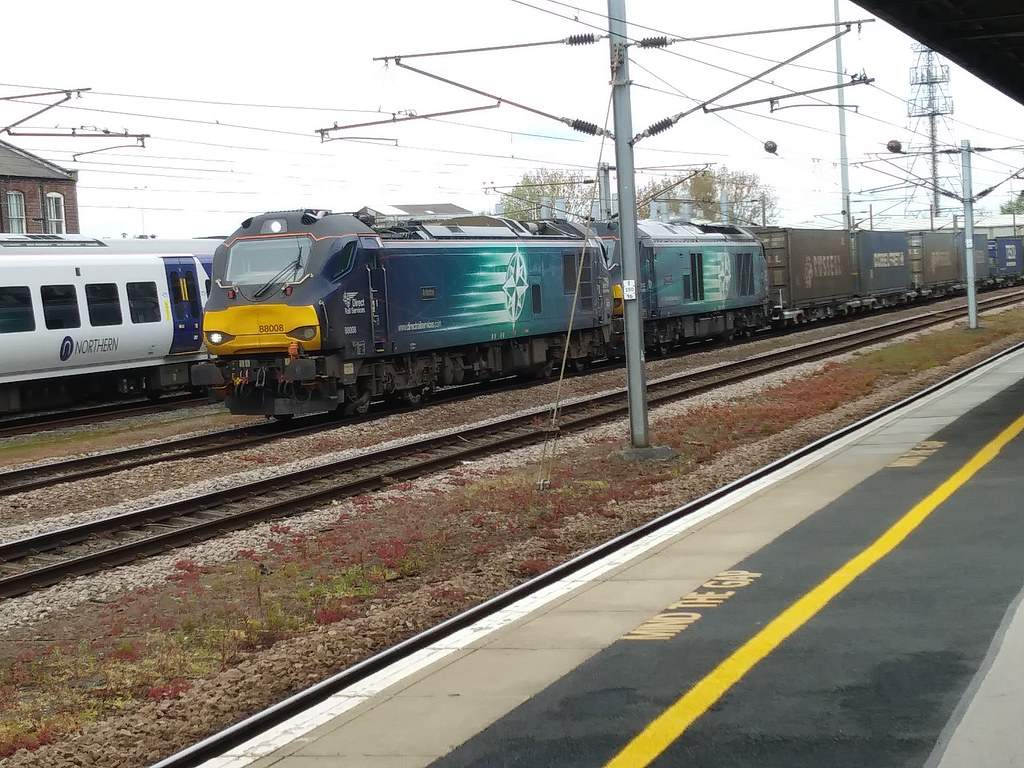 Direct Rail Services Class 88 88008 (Ariadne) And Class 68 68016 (Fearless)