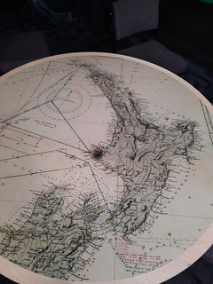 Tabletop map of New Zealand