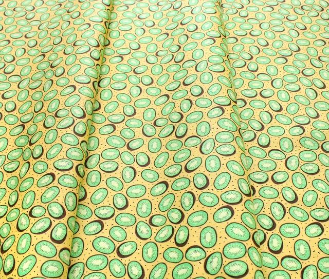 Camelot Fabrics Feelin' Fruity 30200214-1 Kiwi's Yellow