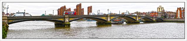 Battersea Bridge, River Thames, Battersea, London, England UK