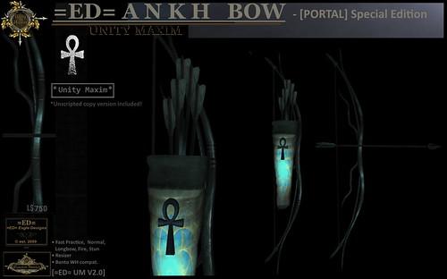 =ED= ANKH BOW - [Portal] - (UM=v2.0) - WLRP May2021 Happy BDAY!   // by =ED= Eagle Designs/ Cira Emor