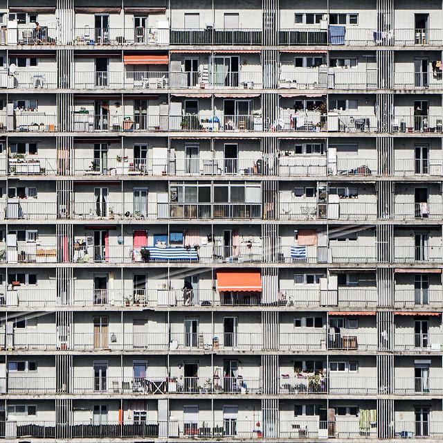... Balconies , doors and windows ...