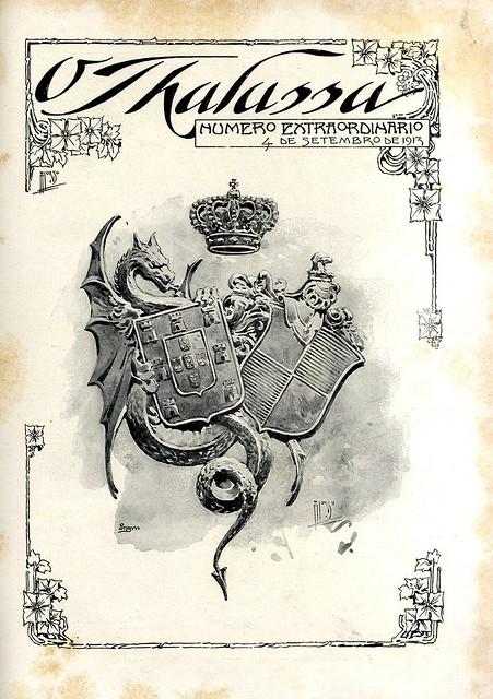 Capa de jornal antigo | old newspaper cover | Portugal 1910s