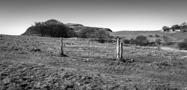 Gate, Walls Hill, Howwood, Renfrewshire, Scotland, UK