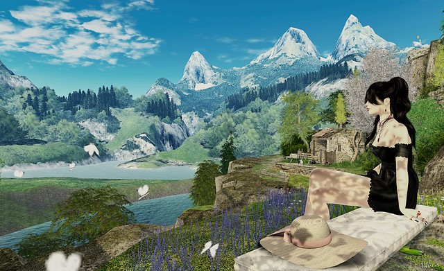 A peaceful mountain view