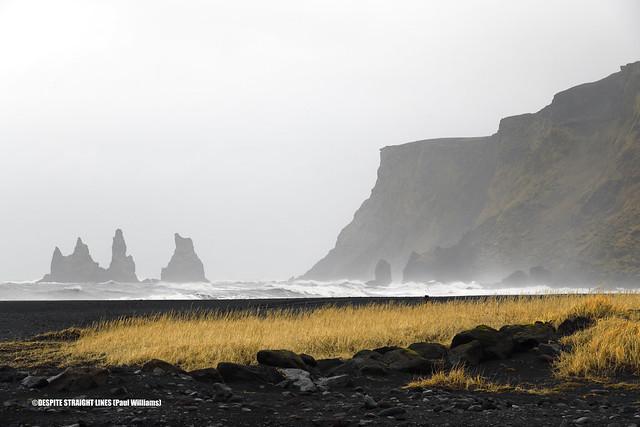 Reynisdranger Basalt columns from Vík í Mýrdal in Iceland  -  (Published by GETTY IMAGES)