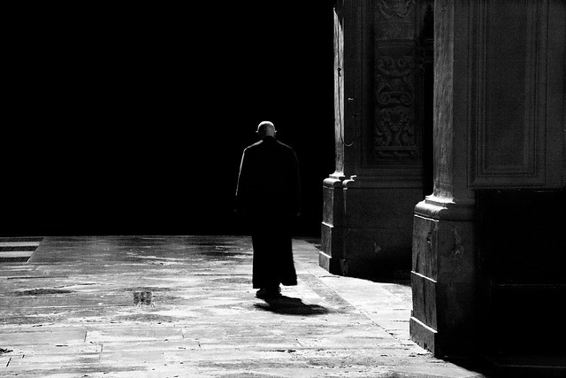 priest in Cathedral San Giorgio