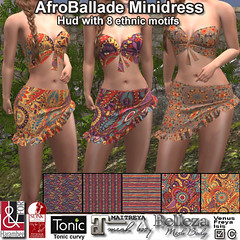 AfroBallade Minidress with Hud PIC