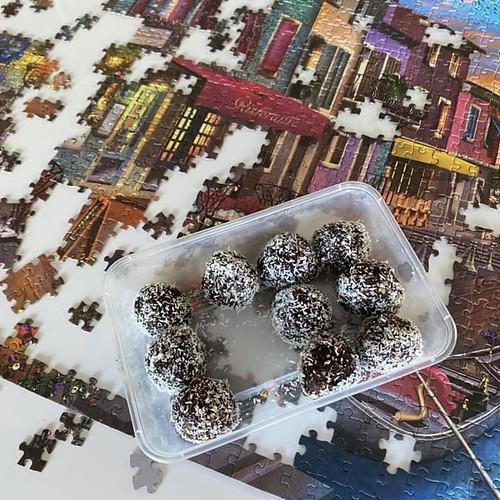 bliss balls and jigsaw