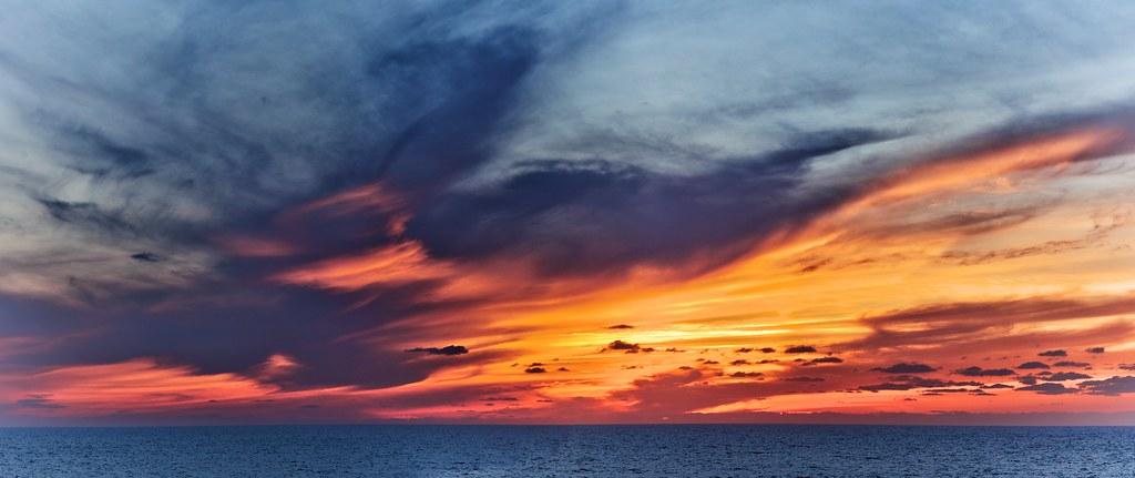 Tropical sunset Morroco
