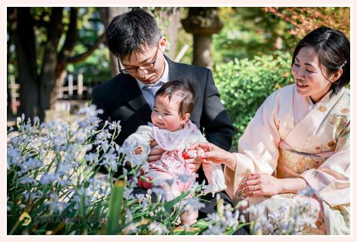 愛知県半田市でロケーション撮影 日本庭園で親子の写真