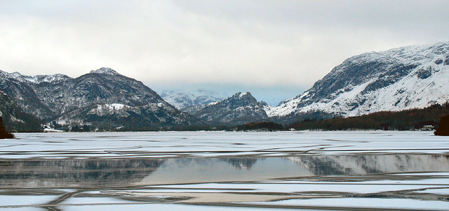 Derwentwater -  nearly frozen.