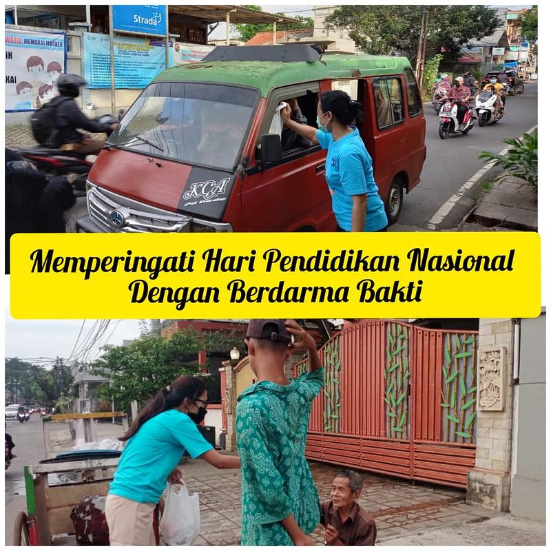 SD Strada Kampung Sawah Berkolaborasi dengan Paroki St. Servatius Memperingati Hari Pendidikan Nasional dengan Berdarma Bakti