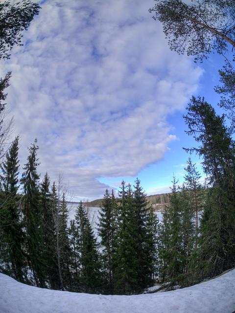 Hunttijärven taivas