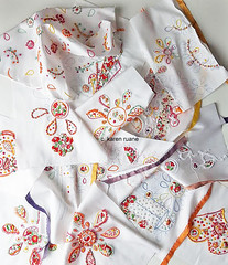 twelve weeks of sampling pattern and hand embroidery