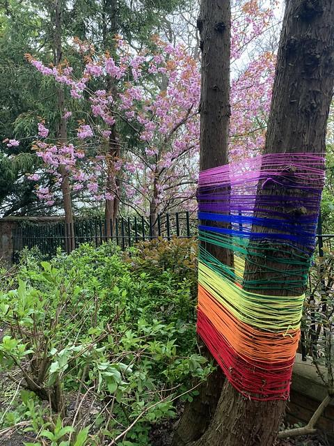 Rainbow art in the park