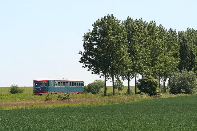 2009-05-23; 0073. NSM 41 als trein 74. Sporen naar het Verleden. 's-Gravenpoldersestraat, Hoedekenskerke.