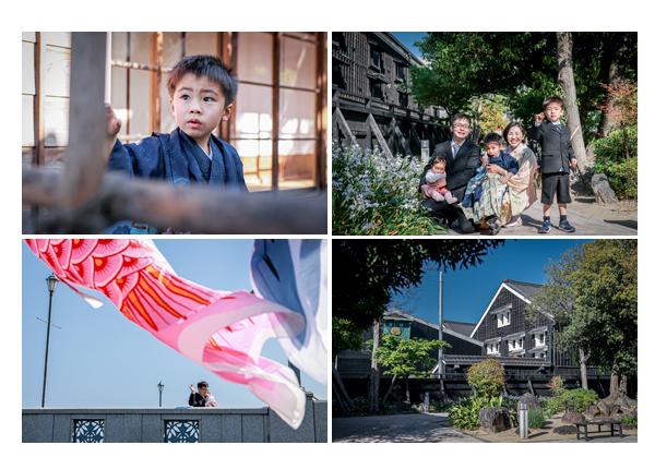 七五三♪運河沿いを散策しながらロケーション撮影 |愛知県半田市
