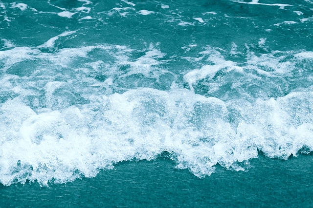 Teal Blue Green Ocean Wave Wallpaper 2021