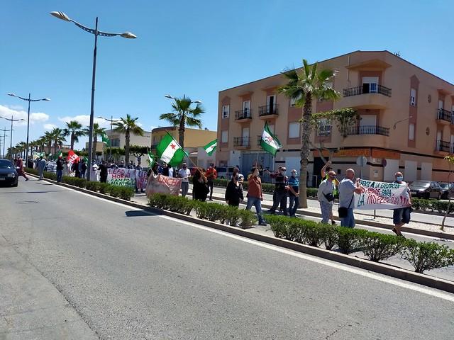 Manifestación por los derechos de los trabajadores del campo convocada por el sindicato Soc-SAT