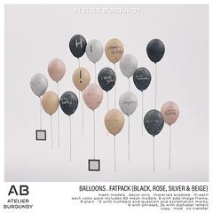 Atelier Burgundy . Balloons