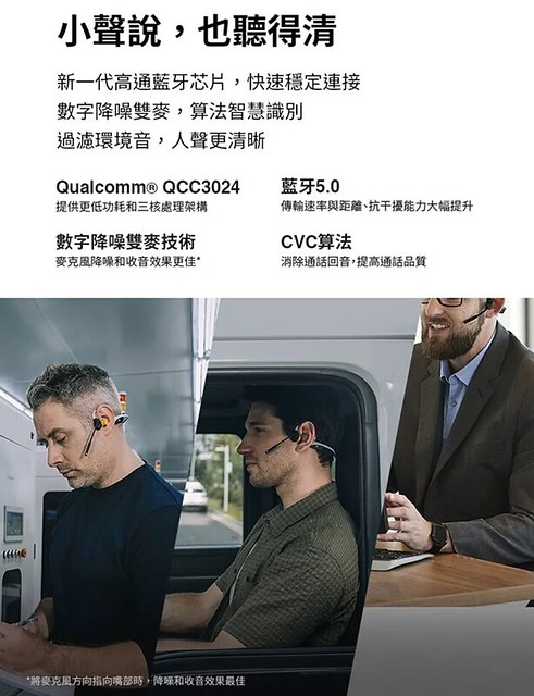 【AFTERSHOKZ】OpenComm_ASC100骨傳導藍牙通訊耳機